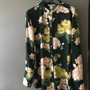 H&M conscious floral print blouse